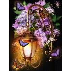 Zestaw do diamond painting - Latarnia z liliami