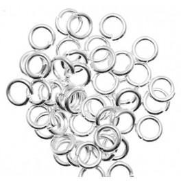 Łączniki i końcówki kolor srebrny 5mm
