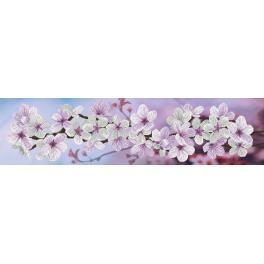 NCP 6232 Zestaw z muliną i podmalowanym tłem - Wiosenne kwitnienie