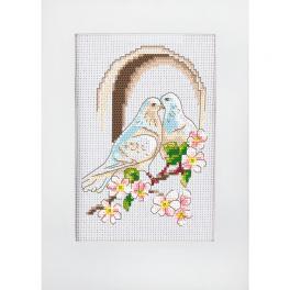 GU 10278 Wzór graficzny - Kartka ślubna - Gołębie
