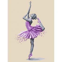 K 10269 Kanwa z nadrukiem - Baletnica - Magia tańca