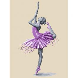 Zestaw z muliną i koralikami - Baletnica - Magia tańca