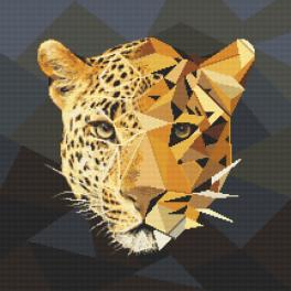 Kanwa z nadrukiem - Mozaikowa pantera