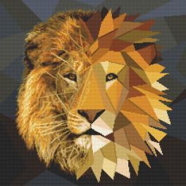 Kanwa z nadrukiem - Mozaikowy lew