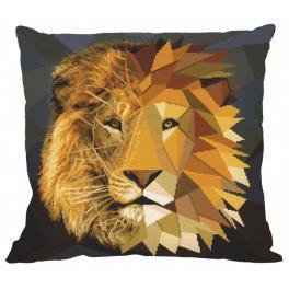 Zestaw z muliną i poszewką - Poduszka - Mozaikowy lew