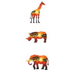 Zestaw z nadrukiem i muliną - Zwierzęta afrykańskie