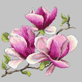 ZN 10271 Zestaw do haftu z nadrukiem - Pachnąca magnolia