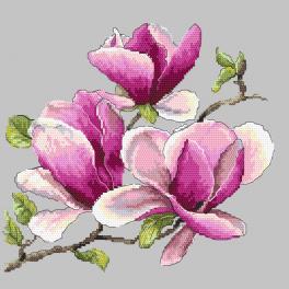 ZN 10271 Zestaw z nadrukiem i muliną - Pachnąca magnolia