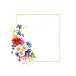 ZU 10431 Zestaw do haftu - Serwetka z polnymi kwiatami