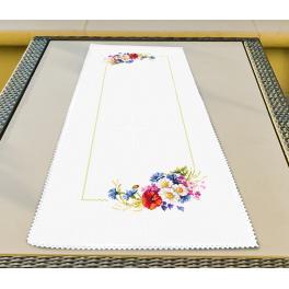 Wzór graficzny - Bieżnik z polnymi kwiatkami