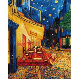 DD10.005 Zestaw do diamond painting - Nocna kawiarenka - V. van Gogh