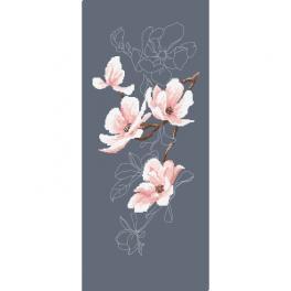 Zestaw z muliną - Gałązka magnolii