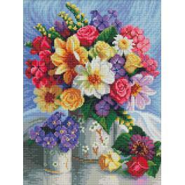 M AZ-1623 Zestaw do diamond painting - Jaskrawe kwiaty