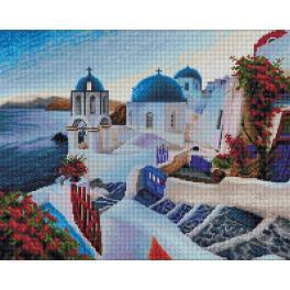 M AZ-1803 Zestaw do diamond painting - Wieczór na Santorini