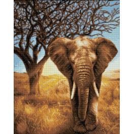 Zestaw do diamond painting - Słoń afrykański