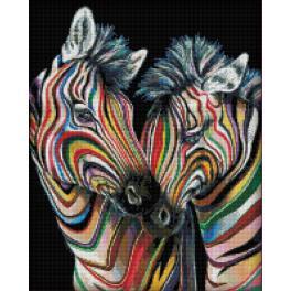 Zestaw do diamond painting - Kolorowe zebry