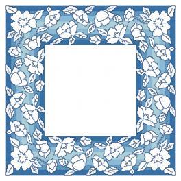 ZU 10629 Zestaw do haftu - Serwetka z kwiatkami