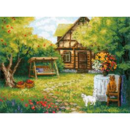Zestaw z włóczką - Wiejski domek