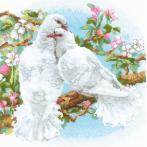 Zestaw z włóczką - Białe gołębie