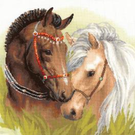 Zestaw z włóczką - Para koni