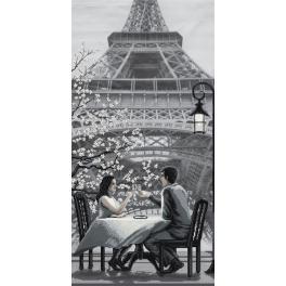 NCB 0105 Zestaw do haftu z podmalowanym tłem - Paryż - miasto miłości. Młodość