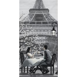 Zestaw z muliną i podmalowanym tłem - Paryż - miasto miłości. Młodość