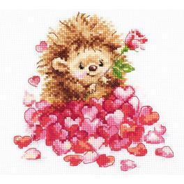 ALI 0-211 Zestaw do haftu - Zakochany jeżyk