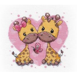Zestaw z muliną - Zakochane żyrafki