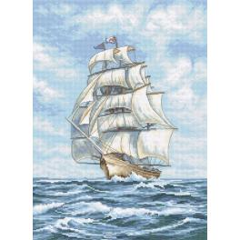 Zestaw z muliną - Statek na morzu