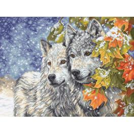 Zestaw z muliną - Wczesny śnieg i wilki