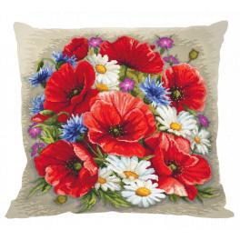 Wzór graficzny - Poduszka - Letnia magia kwiatów