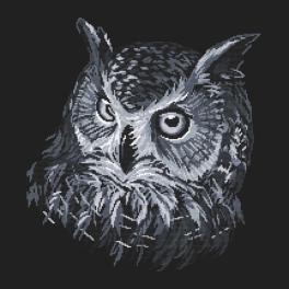 Wzór graficzny - Szara sowa