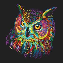 Wzór graficzny - Kolorowa sowa