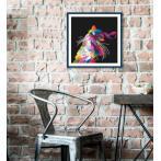 GC 10637 Wzór graficzny - Kolorowy kot