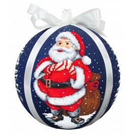 Wzór graficzny - Bombka z Mikołajem