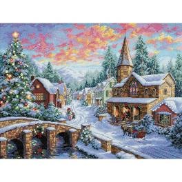 Zestaw z muliną - Świąteczna wioska