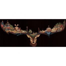 Zestaw z muliną - Kraina jelenia