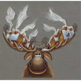 PAZM 7103 Zestaw do haftu - Bożonarodzeniowy łoś
