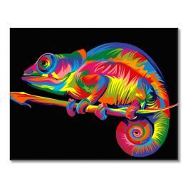 Zestaw do malowania po numerach - Kameleon