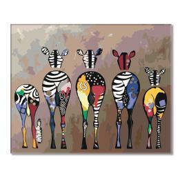 Zestaw do malowania po numerach - Stado zebr