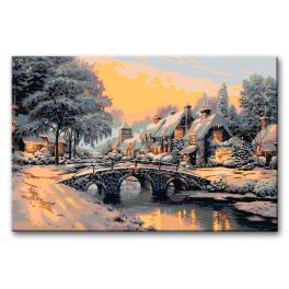 CZ AB607 Zestaw do malowania po numerach - Most na zamarzniętej rzece