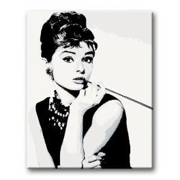 Zestaw do malowania po numerach - Audrey Hepburn Cigarello