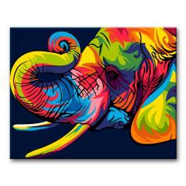Zestaw do malowania po numerach - Kolorowy słoń