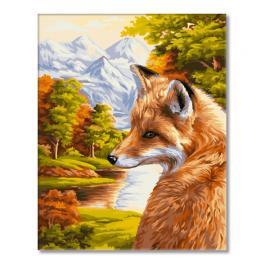 WD H055 Zestaw do malowania po numerach - Jesienny lis