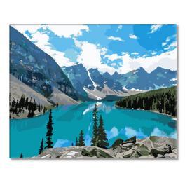 Zestaw do malowania po numerach - Górskie jezioro