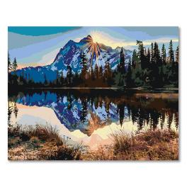 CZ 20016 Zestaw do malowania po numerach - Wschód słońca nad górami