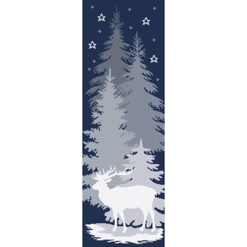 Zestaw do haftu z nadrukiem - Śnieżny jeleń