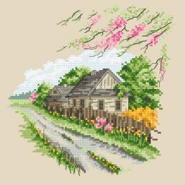 Zestaw do haftu z nadrukiem - Pory roku - Kolorowa wiosna