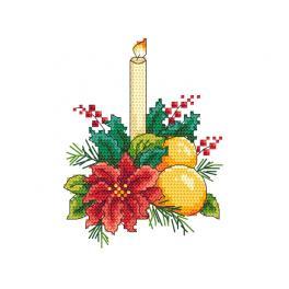 Zestaw do haftu - Świąteczny stroik