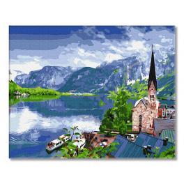 GX33056 Malowanie po numerach - Widok na górskie jezioro